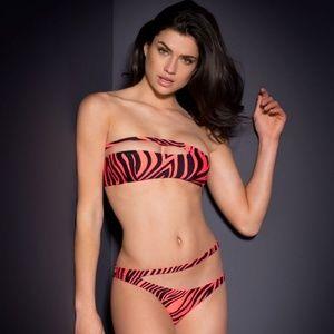 Agent Provocateur TORI Bikini NWT Black   Coral 1a7ecb650